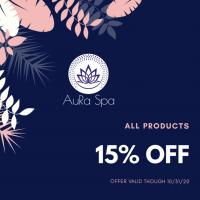 15% OFF all products
