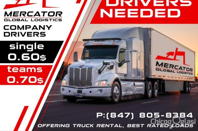OTR CDL Class A drivers wanted - 60 cpm solo, 70 cpm teams